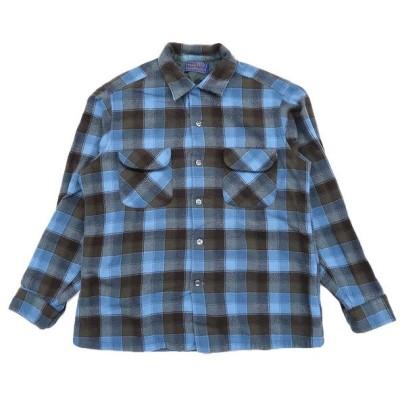 50年代〜 ビンテージ ペンドルトン ウール 開襟 シャツ チェック サイズ表記:L