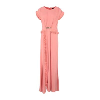 クラス ロベルト カヴァリ CAVALLI CLASS ロングワンピース&ドレス ピンク 46 レーヨン 96% / ポリウレタン 4% / アセテ