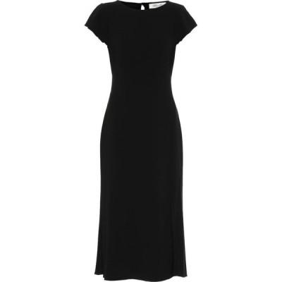 ダイアン フォン ファステンバーグ Diane von Furstenberg レディース パーティードレス ミドル丈 ワンピース・ドレス lourdes crepe midi dress Black