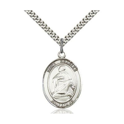 Sterling Silver Catholic Saint Charles Borromeo Medal, 1 Inch【並行輸入品】