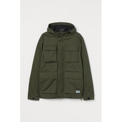 H&M - ウォーターリペレントジャケット - グリーン