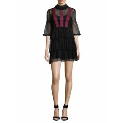 ファースト サイト レディース ワンピース Lace Ruffle Mini Dress