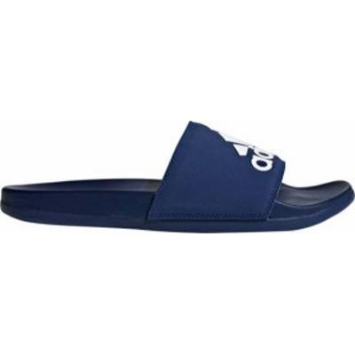 アディダス メンズ サンダル シューズ adidas Men's Adilette Comfort Slides Blue/White