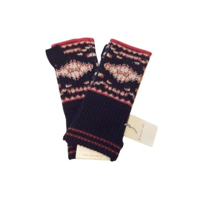 ポール&ジョー シスター 手袋 フィンガーレス スマホ手袋 ネイティブ柄 ブラック ブラウン系 新品