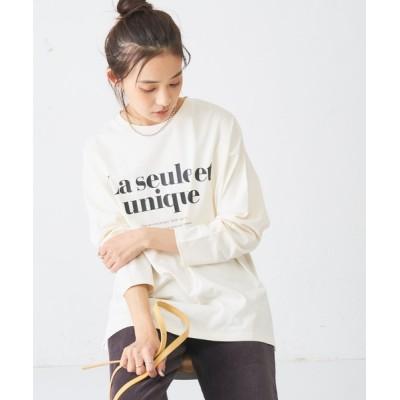 Discoat / ビッグロゴロングTシャツ WOMEN トップス > Tシャツ/カットソー