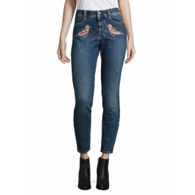 ペゼリコ レディース パンツ デニム Embroidered High-Waist Skinny Jeans