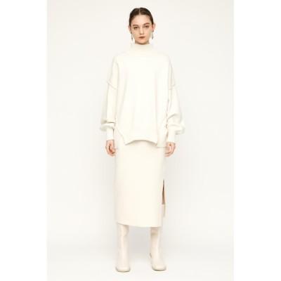 【スライ/SLY】 SIDE SLIT ミディアムスカート