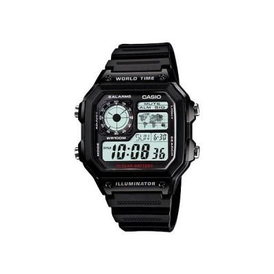 カシオ CASIO スタンダード 10年バッテリー デジタル 腕時計 AE1200WH-1A 液晶