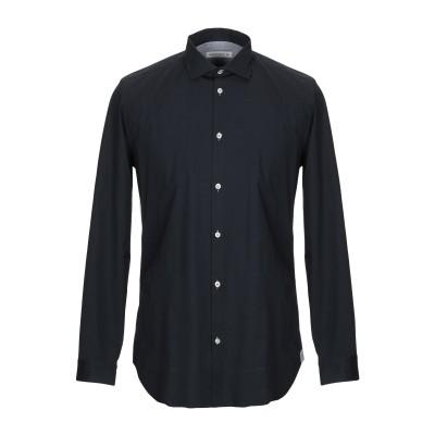 マニュエル リッツ MANUEL RITZ シャツ ダークブルー 38 コットン 98% / ポリウレタン 2% シャツ