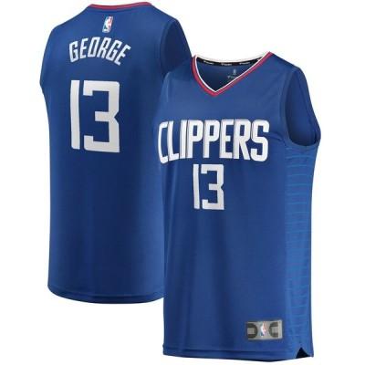 Paul George LA Clippers Youth 少年用 2019/20 Fast Break Replica ユニフォーム Blue