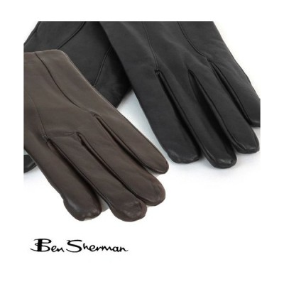 ベンシャーマン Ben Sherman 本革レザー グローブ 手袋 メンズ