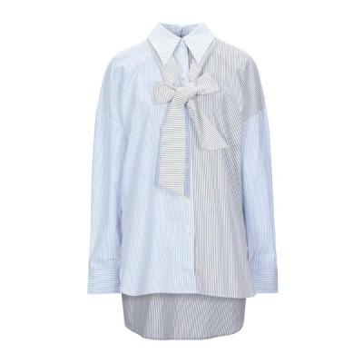 TIBI ストライプ柄シャツ ファッション  レディースファッション  トップス  シャツ、ブラウス  長袖 ホワイト