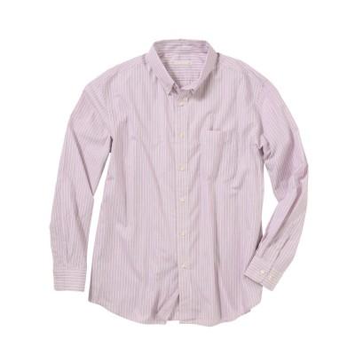 裾アウトが様になる!お腹ゆったり形態安定ビジネスカジュアルボタンダウン長袖シャツ (ワイシャツ)Shirts,