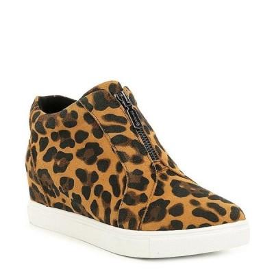 ブロンド レディース スニーカー シューズ Glenda Leopard Print Suede Platform Wedge Sneakers