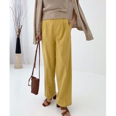 StyleSea / リネンライクストレートパンツ WOMEN パンツ > チノパンツ