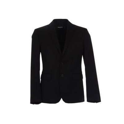 ディースクエアード DSQUARED2 テーラードジャケット ブラック 48 ウール 98% / ポリウレタン 2% テーラードジャケット