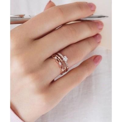 指輪 グロッシーセットリング