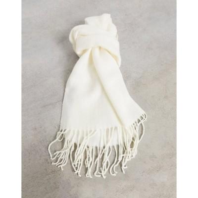 エイソス メンズ マフラー・ストール・スカーフ アクセサリー ASOS DESIGN supersoft scarf in off white Cream