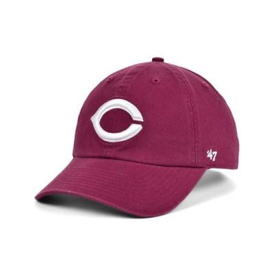 47ブランド レディース 帽子 アクセサリー Cincinnati Reds Cardinal and White CLEAN UP Cap