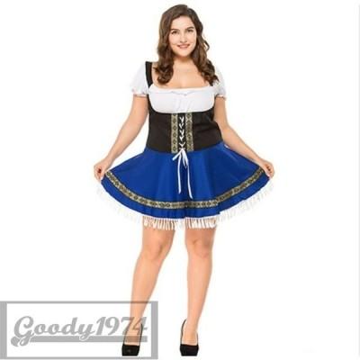 大きいサイズ コスプレ ビールガール ドイツ メイド M-3XL サイズ ワンピース 民族衣装 仮装 イベント パーティー 舞台 ダンス コ D0961