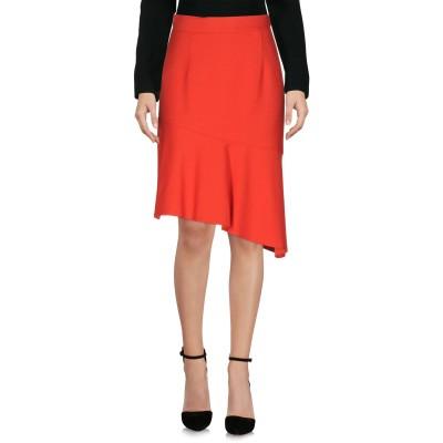 レ コパン LES COPAINS ひざ丈スカート レッド 40 レーヨン 57% / バージンウール 40% / ポリウレタン 3% ひざ丈スカート