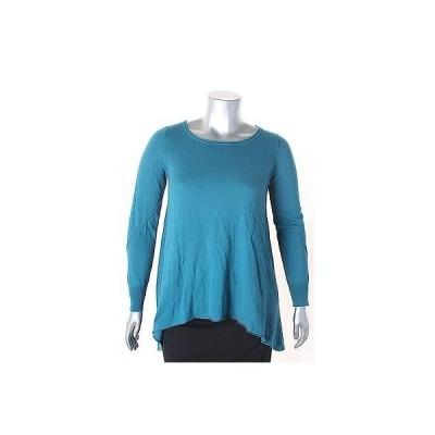 スタジオ エム セーター ニット Studio M Teal 長袖 Scoop Neck Solid セーター サイズ M 88LAFO