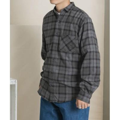 URBAN RESEARCH ITEMS/アーバンリサーチ アイテムズ 起毛チェックシャツ GRY M
