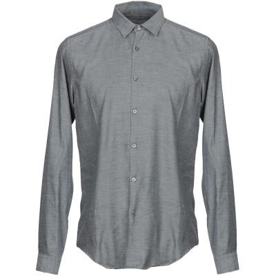 メッサジェリエ MESSAGERIE シャツ スチールグレー 40 コットン 100% シャツ