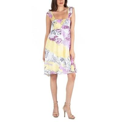 24セブンコンフォート ワンピース トップス レディース Ruffle Strap Floral Sleeveless A-Line Dress Multi