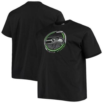 ファナティクス ブランデッド メンズ Tシャツ トップス Seattle Seahawks Fanatics Branded Big & Tall Color Pop T-Shirt