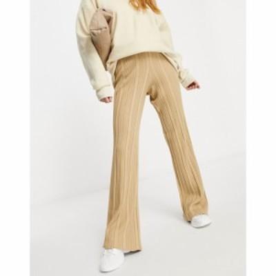 フォースandレックレス 4th and Reckless Tall レディース ボトムス・パンツ ワイドパンツ Knitted Wide Leg Trouser In Camel キャメル