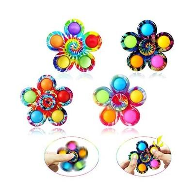 Pop Fidget Spinner Toys, Tie-Dye Simple Dimple Fidget Toys, Push Bubble Spi