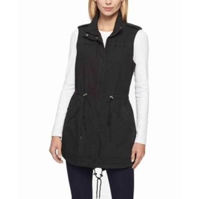 levis リーバイス ファッション 衣類 Levis Womens Black Size XS Cinched Fishtail Lightweight Vest Jacket