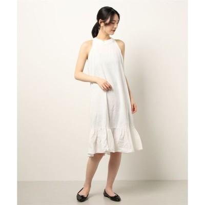ドレス ノースリーブ プリーツドレス