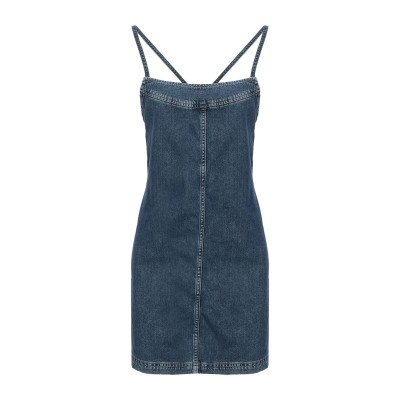 DUA LIPA x PEPE JEANS ミニワンピース&ドレス ブルー L コットン 100% ミニワンピース&ドレス
