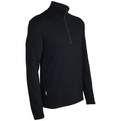 アイスブレーカー ニット、セーター メンズ アウター Icebreaker Men's Original LS Half Zip Black