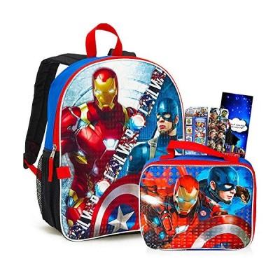 【平行輸入品】 Marvelアベンジャーズバックパックランチボックスセット、16インチLarge (アベンジャーズSchool Supp