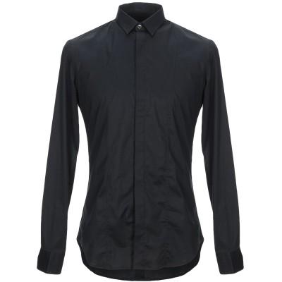 パオロ ペコラ PAOLO PECORA シャツ ブラック 43 コットン 97% / ポリウレタン 3% シャツ