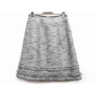 トゥービーシック TO BE CHIC スカート サイズ38 M レディース 黒×グレー×白【中古】20200630