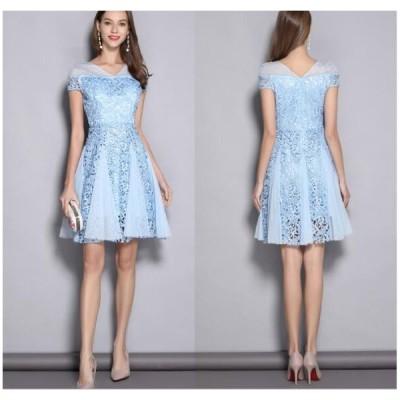 送料無料 花嫁ドレス パーティードレス 二次会ドレス 短いドレス イブニングドレス キャバ嬢ドレス