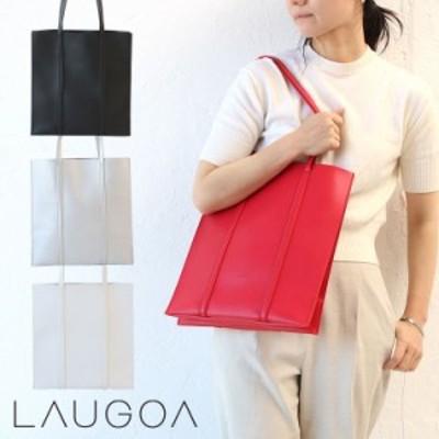 ラウゴア トートバッグ レディース トート 肩掛け LAUGOA ブランド 2気室 大人 スクエア フェイクレザー 20126-11019