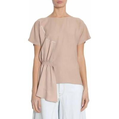 メゾンマルジェラ トップス レディースMM6 Maison Margiela T-shirt With Applied Ruffled DetailCIPRIA