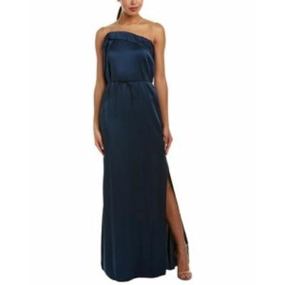 ESCADA エスカーダ ファッション ドレス Escada Silk-Lined Gown 36 Blue