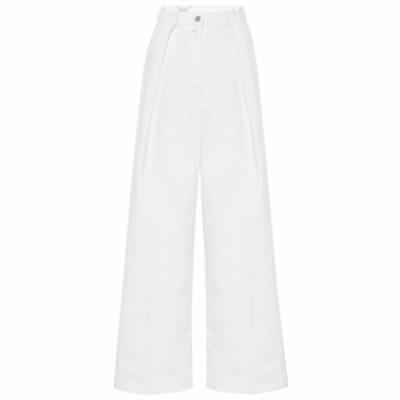 ドリス ヴァン ノッテン Dries Van Noten レディース ジーンズ・デニム ボトムス・パンツ High-rise flared cotton pants White