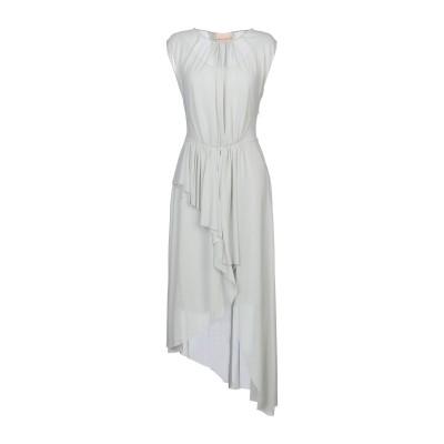 エリカ カヴァリーニ ERIKA CAVALLINI 7分丈ワンピース・ドレス ライトグリーン 40 ポリエステル 100% 7分丈ワンピース・ドレス