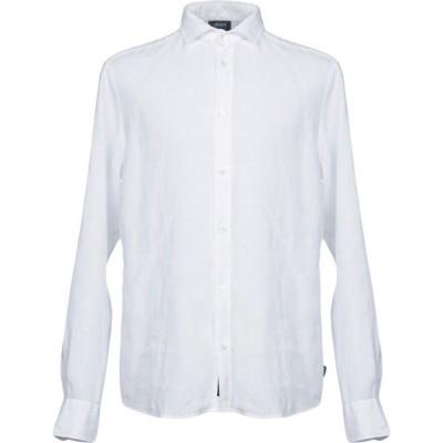 アルマーニ ジーンズ ARMANI JEANS メンズ シャツ トップス linen shirt White