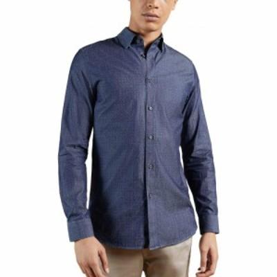 テッドベーカー TED BAKER LONDON メンズ シャツ トップス Beaan Dot Print Long Sleeve Button-Up Shirt Blue