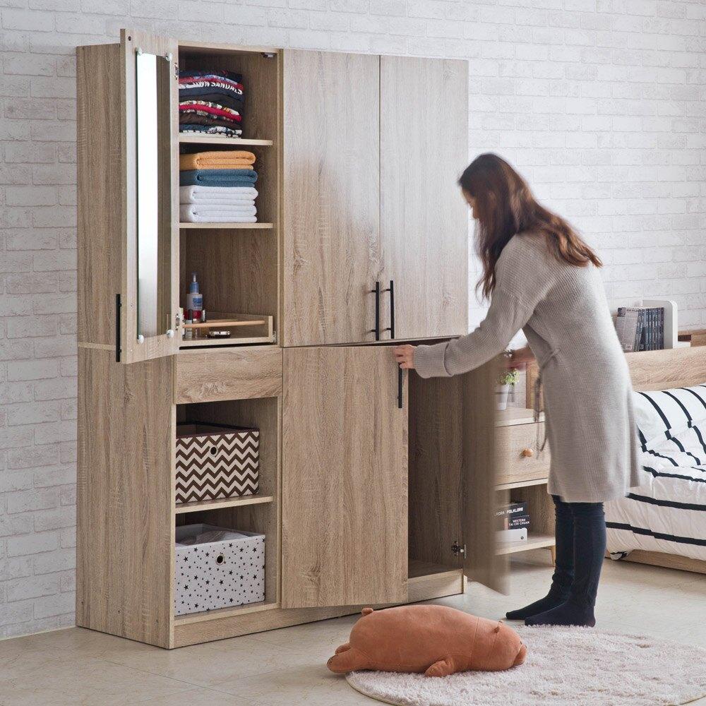 衣櫃/衣櫥/收納/日式 TZUMii 瑪奇朵五門二格衣櫃