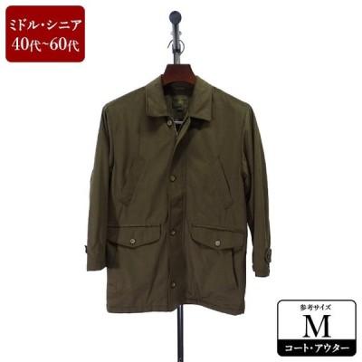 ハーフコート メンズ Mサイズ ブラウン コート 男性用 中古 ZQAF04