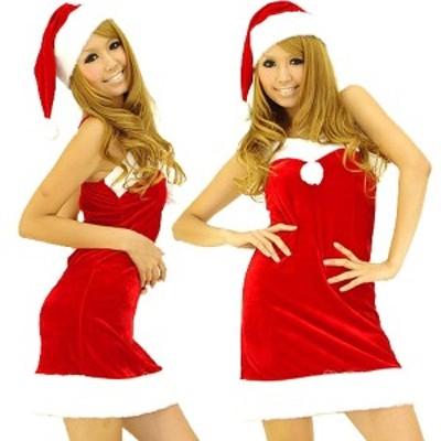 2015クリスマス サンタ ミニドレス 帽子付き![ キャバドレス・小悪魔アゲハageha・パーティードレス]